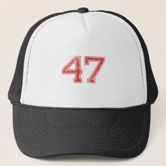 Rot trägt Jerzee Nr. 47 zur Schau Truckerkappe