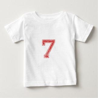 Rot trägt Jerzee Nr. 7 zur Schau Baby T-shirt