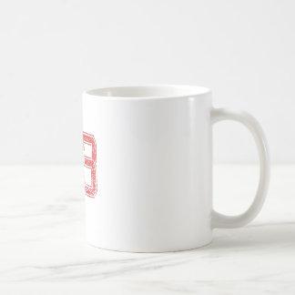Rot trägt Jerzee Nr. 83 zur Schau Kaffeetasse