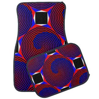 Rot-u. Blau-Spirale Automatte