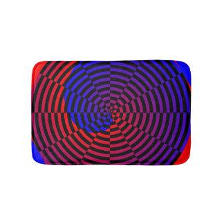 Rot-u. Blau-Spirale Badematte