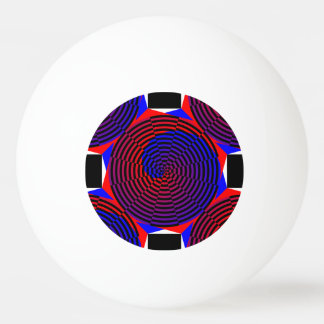 Rot-u. Blau-Spirale durch Kenneth Yoncich Ping-Pong Ball