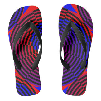 Rot-u. Blau-Spirale Flip Flops