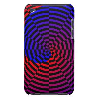 Rot-u. Blau-Spirale iPod Case-Mate Hülle