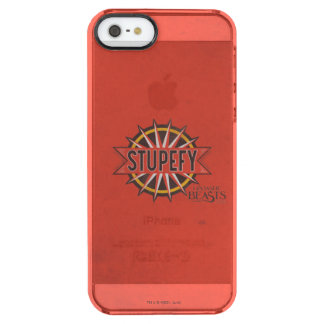 Rot u. Gold Stupefy Bann-Grafik Durchsichtige iPhone SE/5/5s Hülle