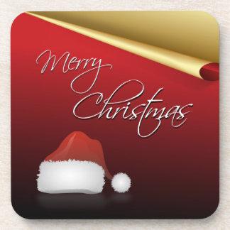 Rot u. Goldelegantes Weihnachten Untersetzer