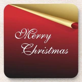 Rot u Goldelegantes Weihnachten Untersetzer