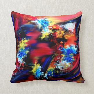 Rot und blaue Bürsten-Anschläge Kissen