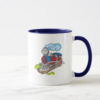 Rot und blaue Zug-T-Shirts und Geschenke Tasse