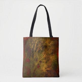 Rot-und Goldbaum-Niederlassungen abstrakt Tasche