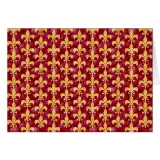 Rot und Goldc$fleur-de-c$les Karte