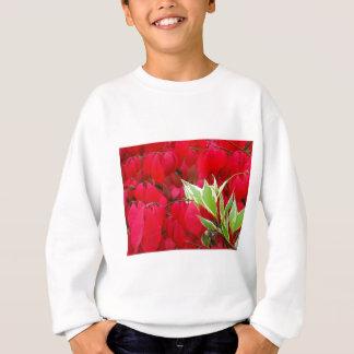 Rot-und Grün-Blätter Sweatshirt