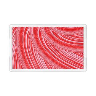 Rot-und Rosa-Spiralen-Druck Acryl Tablett