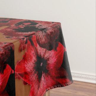 Rot-und Rotwein-Petunie Tischdecke