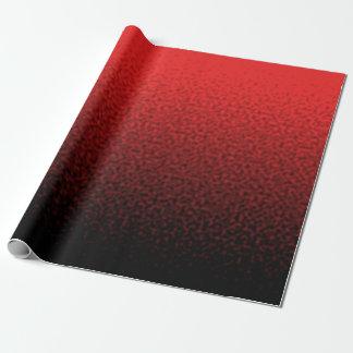 Rot und Schwarzes geplätscherte Steigung Geschenkpapier