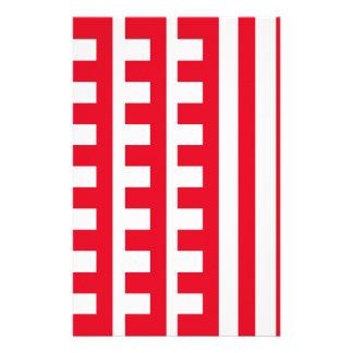 Rot und Weiß kämmt Zahn Briefpapier