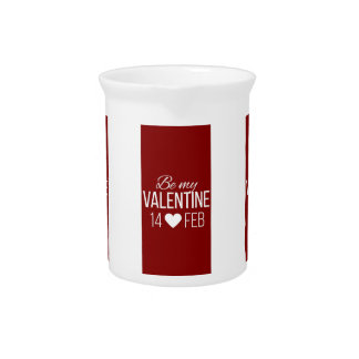 Rot und Weiß seien Sie mein Valentinsgruß-Herz Krug