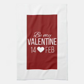 Rot und Weiß seien Sie mein Valentinsgruß-Herz Küchentuch