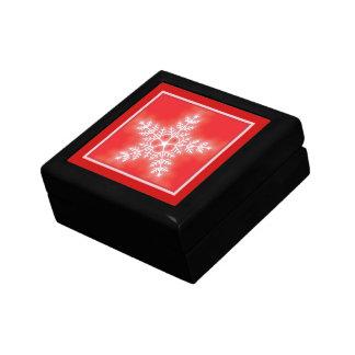 Rot-und Weiß-Stern-Schneeflocke Geschenkbox