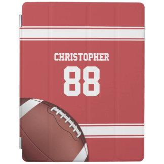 Rot und Weiß Stripes Jersey-Fußball iPad Hülle