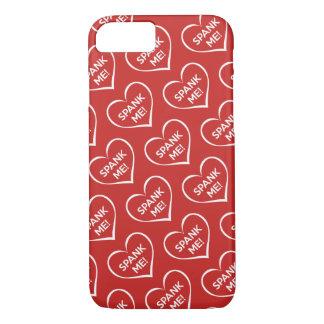 Rot verprügeln Sie mich Liebe-Herz-Muster iPhone 8/7 Hülle