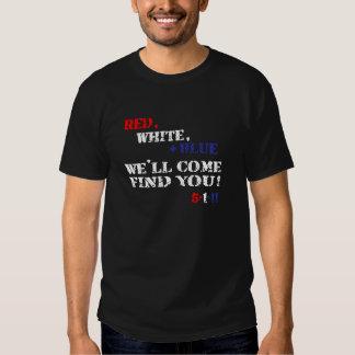 Rot, weiß + Blau kommen wir Entdeckung Sie 5.1.11 Hemd