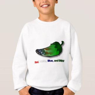 Rot, weiß, Blau und Grün Sweatshirt