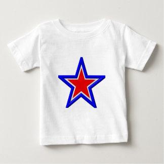 Rot-, weiße und Blau Staplungssterne Baby T-shirt