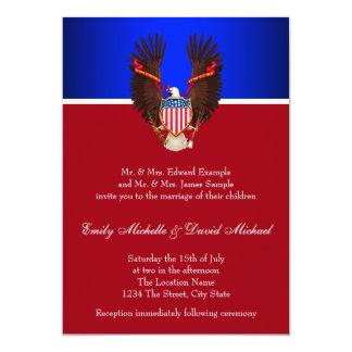 Rot-, weiße und Blauepatriotische Karte