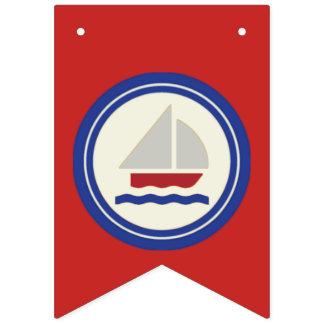 Rot-, weiße und Blaueseefahnen-Flagge Wimpelketten