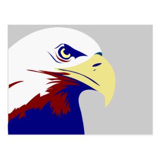 Rot-, weißer u. Blaueramerikaner Eagle Postkarten