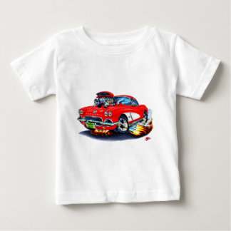 Rot-Weißes Auto 1962 Korvette Baby T-shirt