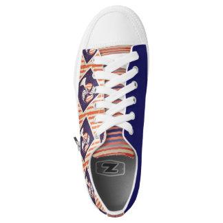 Rot-, weißes und BlauesRetro cooles Niedrig-geschnittene Sneaker