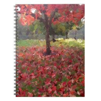 Rotahorn-Baum-Fotografie Notizblock