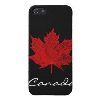 Rotahorn-Blatt/Schwarz-Kanada iPhone 5 Etui