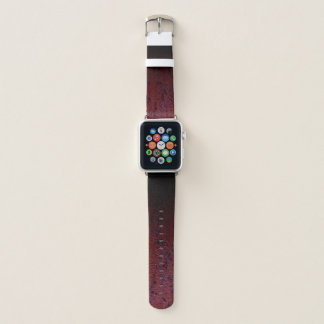 Rotbraune schwarze Ombre Rost-Metallpatina Apple Watch Armband