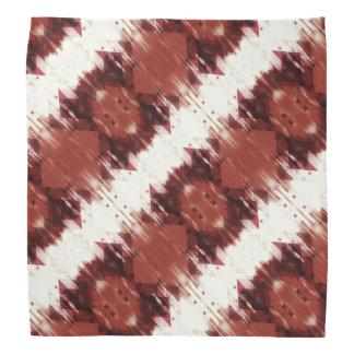 Rotbraunes und weißes geometrisches Muster Halstuch