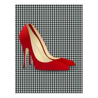 rote Absatzschuhe Postkarte