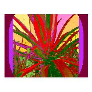Rote Agaven-Südwestwüsten-Entwurfs-Geschenke durch Postkarte
