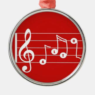 Rote Alt-Sänger-Musical-Verzierung Silbernes Ornament
