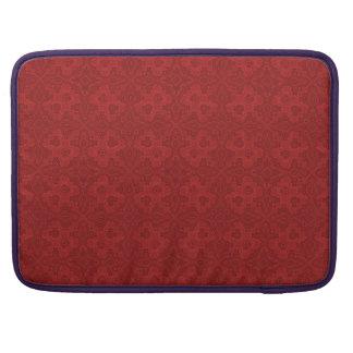 Rote alte Krawatte-oben Muster-Laptop-Hülse Sleeve Für MacBook Pro