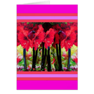 Rote Amaryllis-Blumen-Geschenke durch Sharles Karte