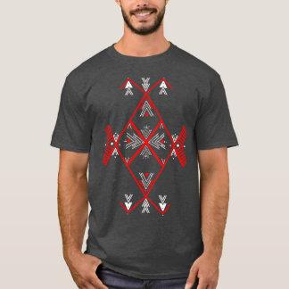 Rote Amazigh Entwurf T-Shirt Männer