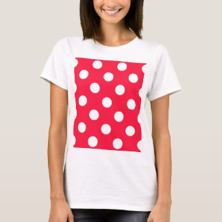 Rote andd Weiß-Tupfen T-Shirt