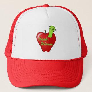 Rote Apple-Buch-Wurm-T-Shirts und Geschenke Truckerkappe