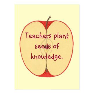 Rote Apple-Lehrer-Pflanzen-Samen, Postkarte