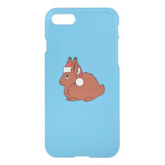 Rote arktische Hasen mit roter Weihnachtsmannmütze iPhone 8/7 Hülle