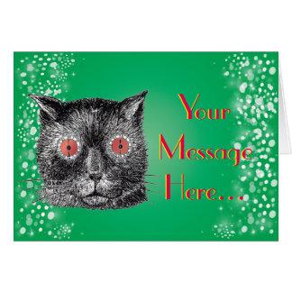 Rote Augen katzenartige schrullige Steampunk Katze Karte