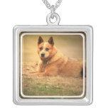 Rote australische Vieh-Hundehalskette Personalisierte Halskette