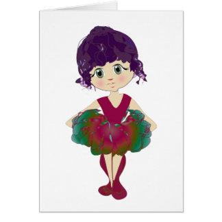 Rote Ballett-Schuhe, niedliche Ballerina-Kunst Karte